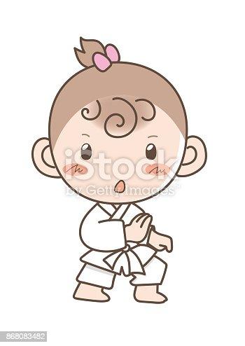 istock Grupo de Karate niños uso de artes marciales uniformes ...
