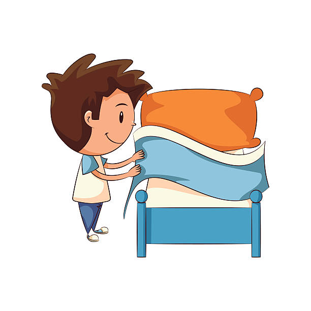 Royalty Free Making Bed Clip Art Vector Images
