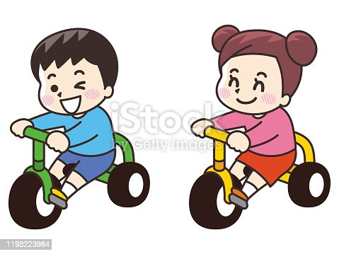istock A child on a tricycle 1193223984