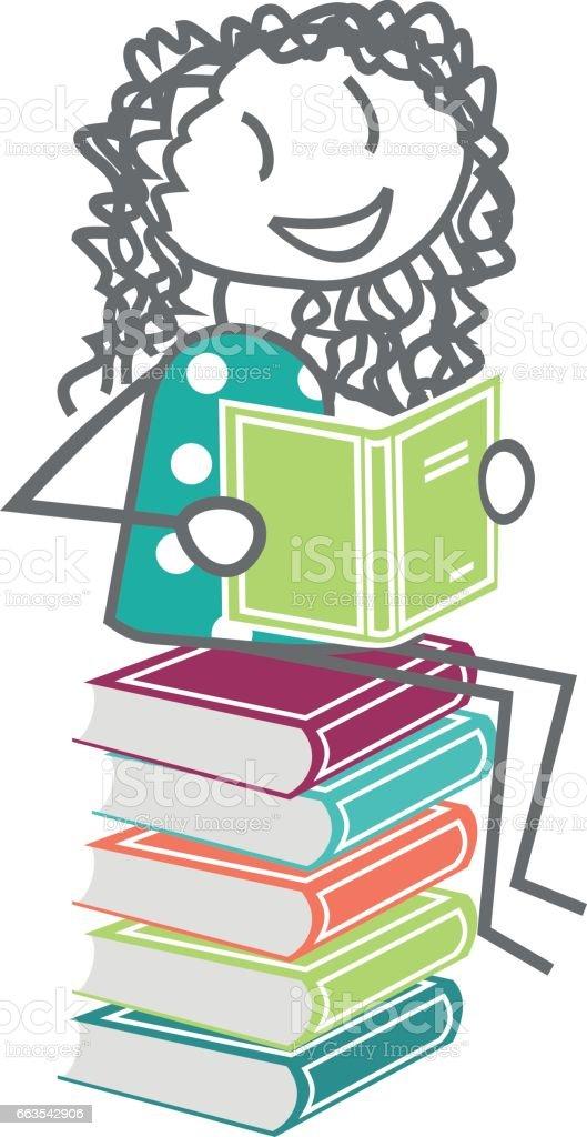 Enfant Ou Adulte Qui Lit Des Livres A La Bibliotheque