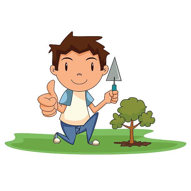 120 Boy Planting Tree Cartoon Illustrations Royalty Free Vector Graphics Clip Art Istock Cartoon style of seasonal trees. https www istockphoto com illustrations boy planting tree cartoon