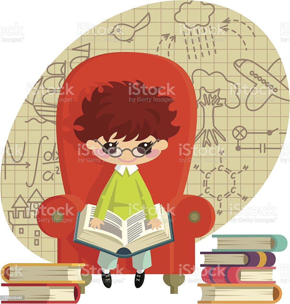 child prodigchy vector art illustration