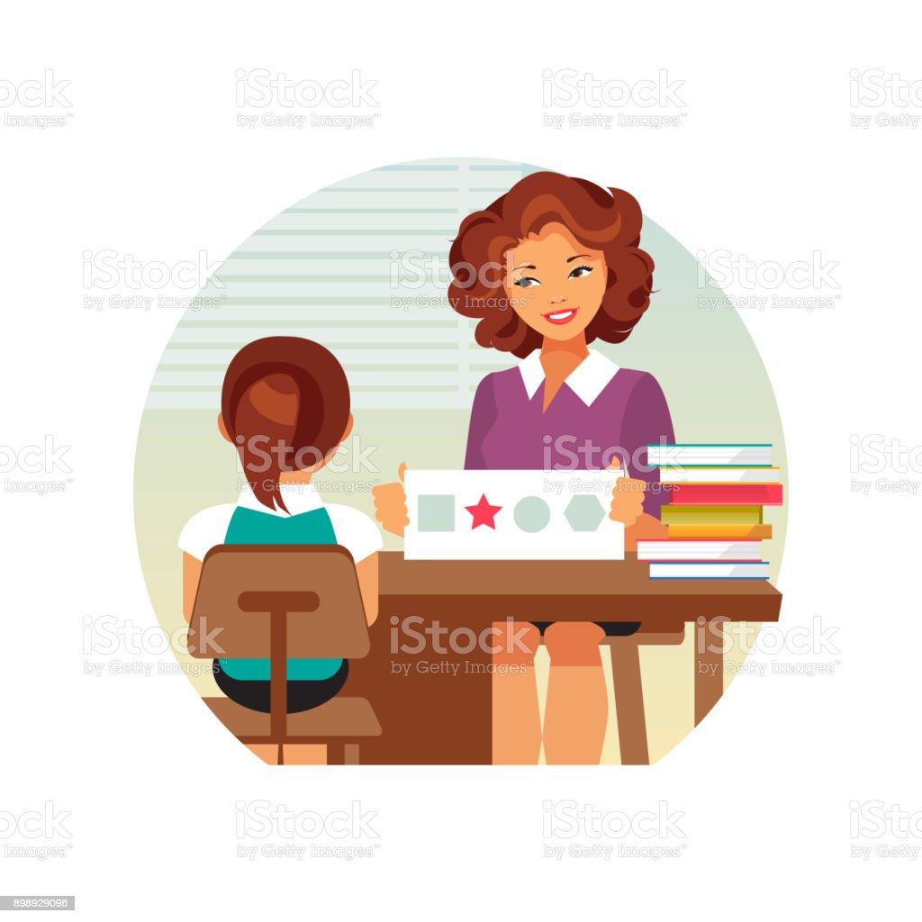 Child psychologist vector vector art illustration