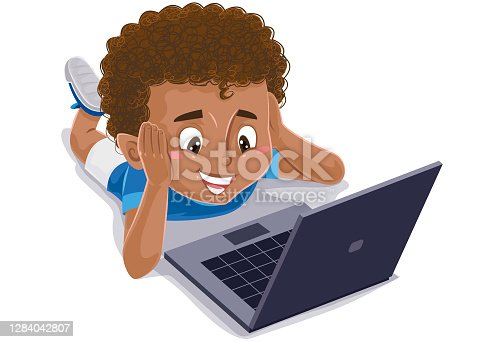 istock Child reading and studying with book, notebook or tablet 1284042807