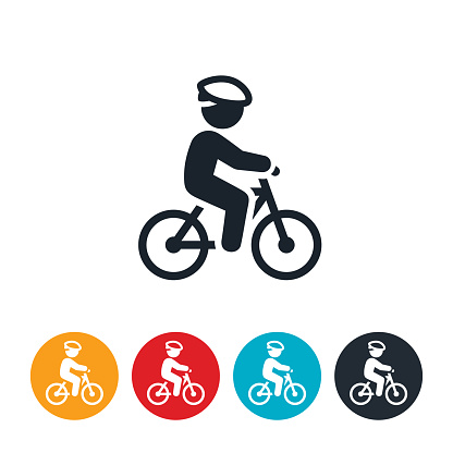 Child Riding Bicycle Icon