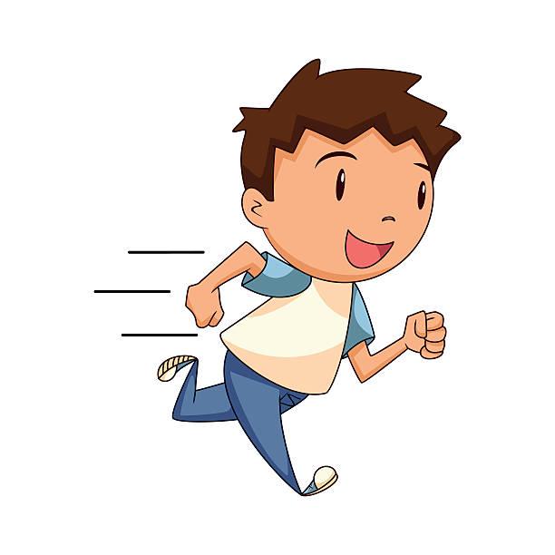 Royalty Free Children Running Race Cartoons Clip Art ...