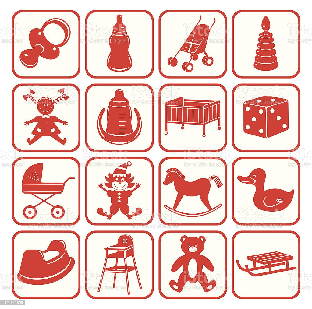 Child set . Toys, accessory, equipment. royalty-free stock vector art