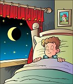 An a vector illustration of child sleeps.