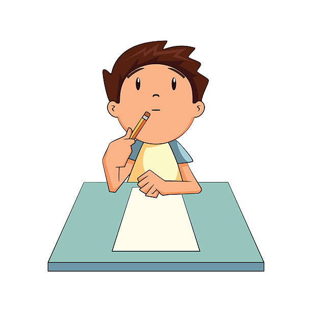 Royalty Free Child Writing Clip Art, Vector Images ...