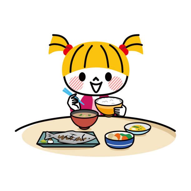 朝ごはん 日本人 イラスト素材 Istock