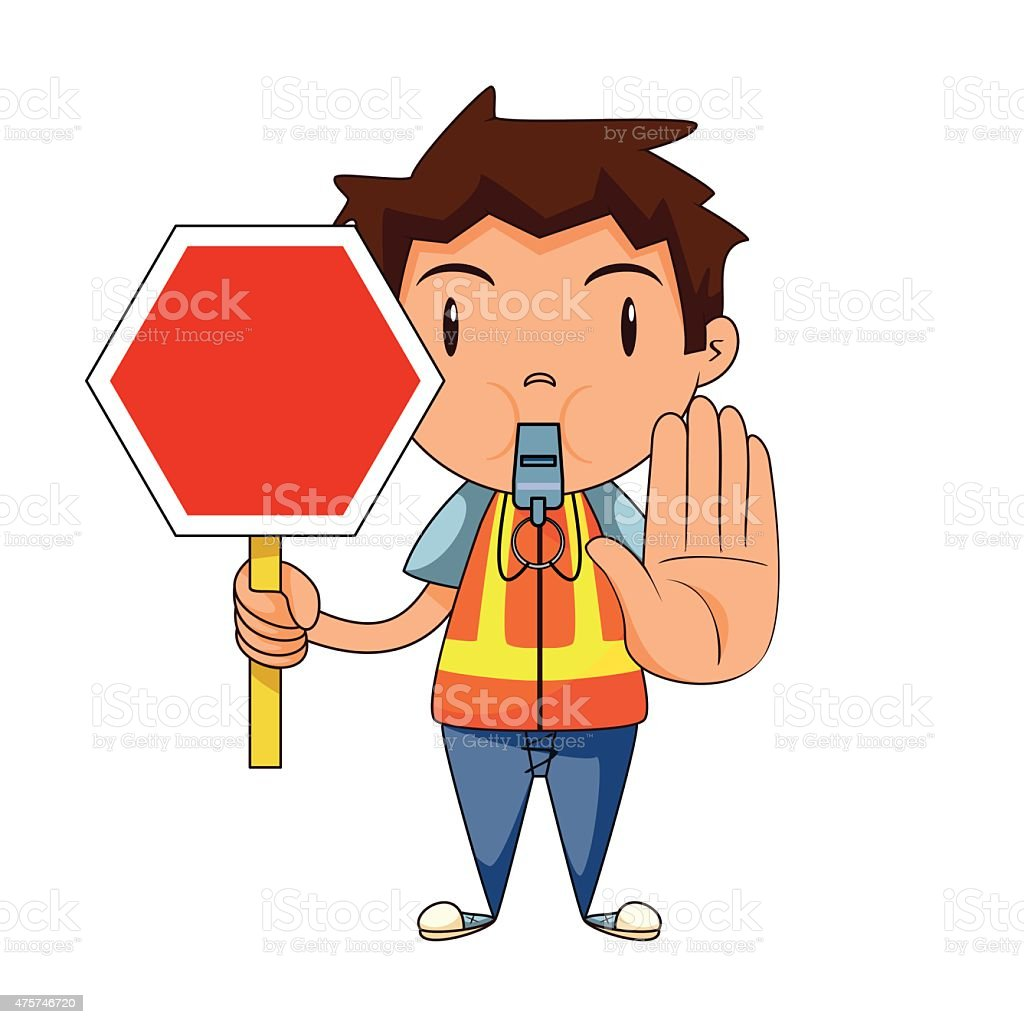 royalty free traffic cop clip art vector images