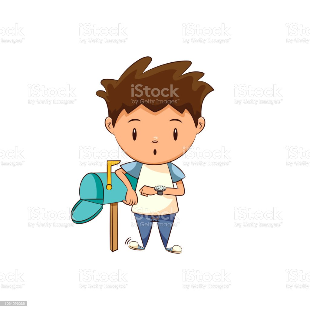 Waiting For Mail >> Child Waiting Mail Stock Vector Art More Images Of Adult Istock