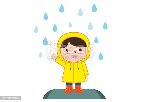 istock child wearing a raincoat 1278539626