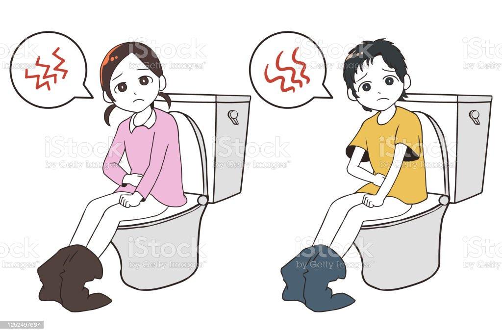 Child On Toilet Stock Vector 186656486 - Shutterstock