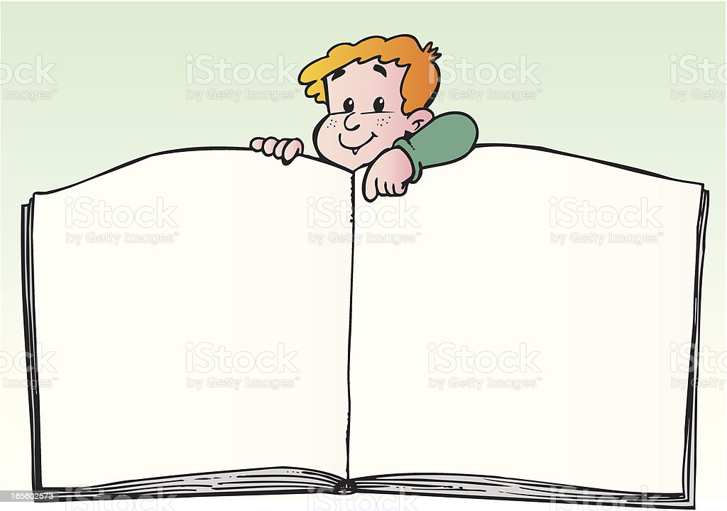 Child with book royalty-free stock vector art