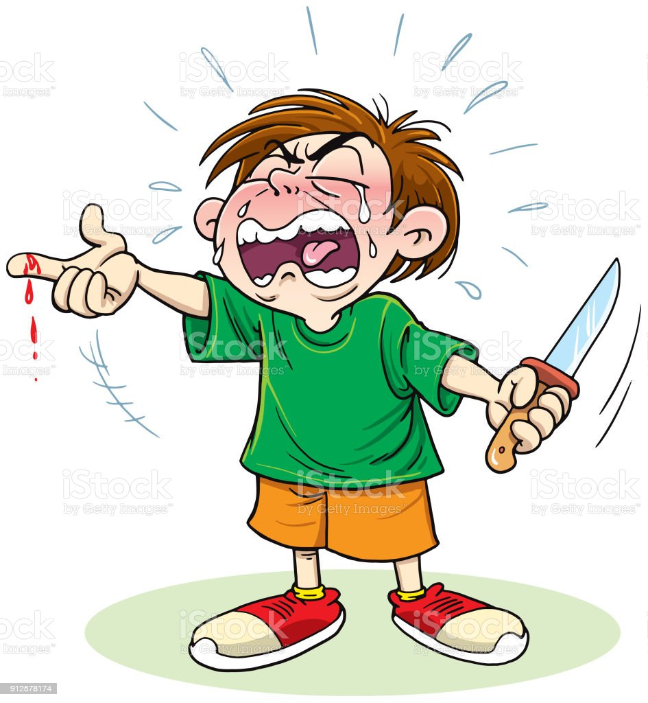 Child With Knife Injuries Stock Vector Art & More Images ...