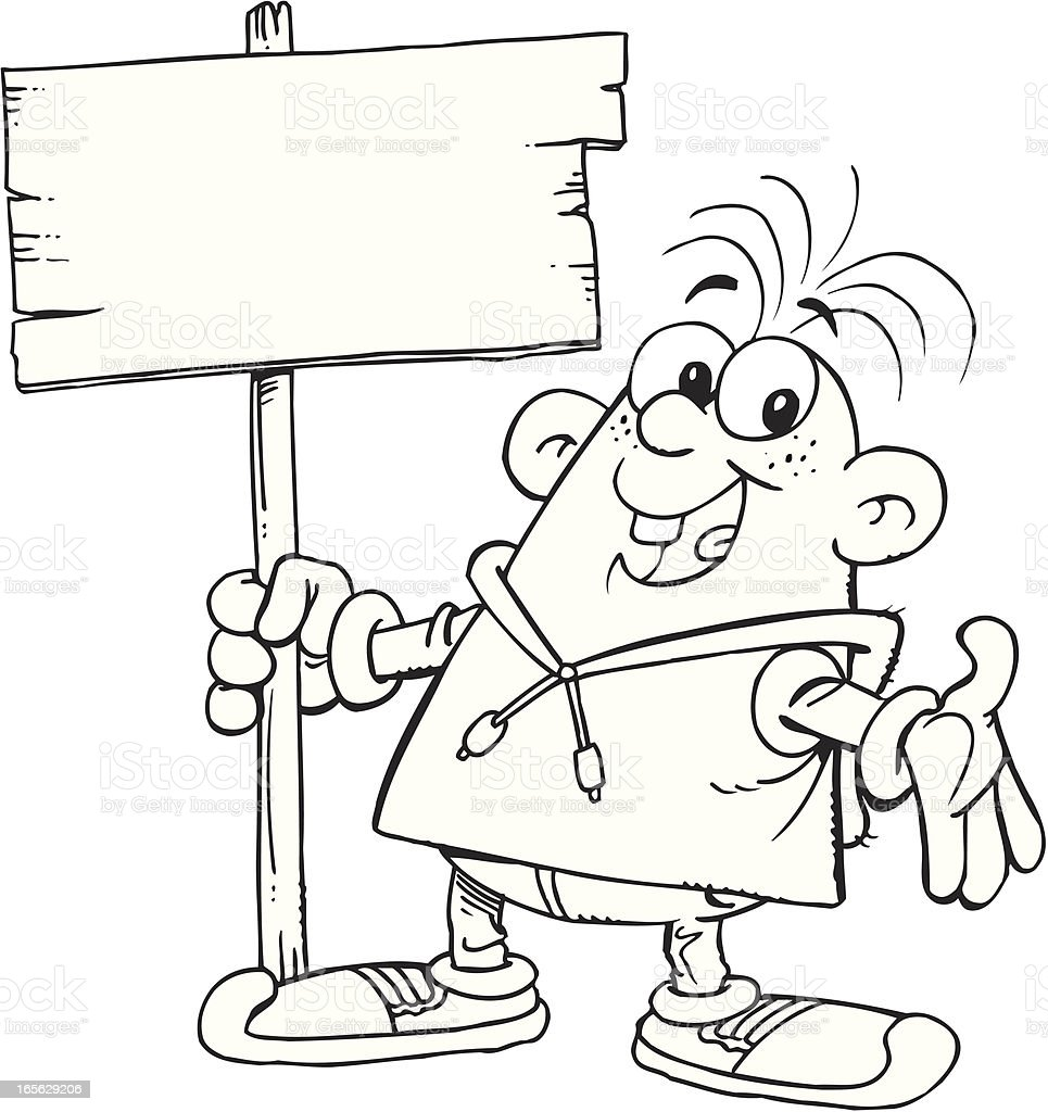 Child with slab vector art illustration