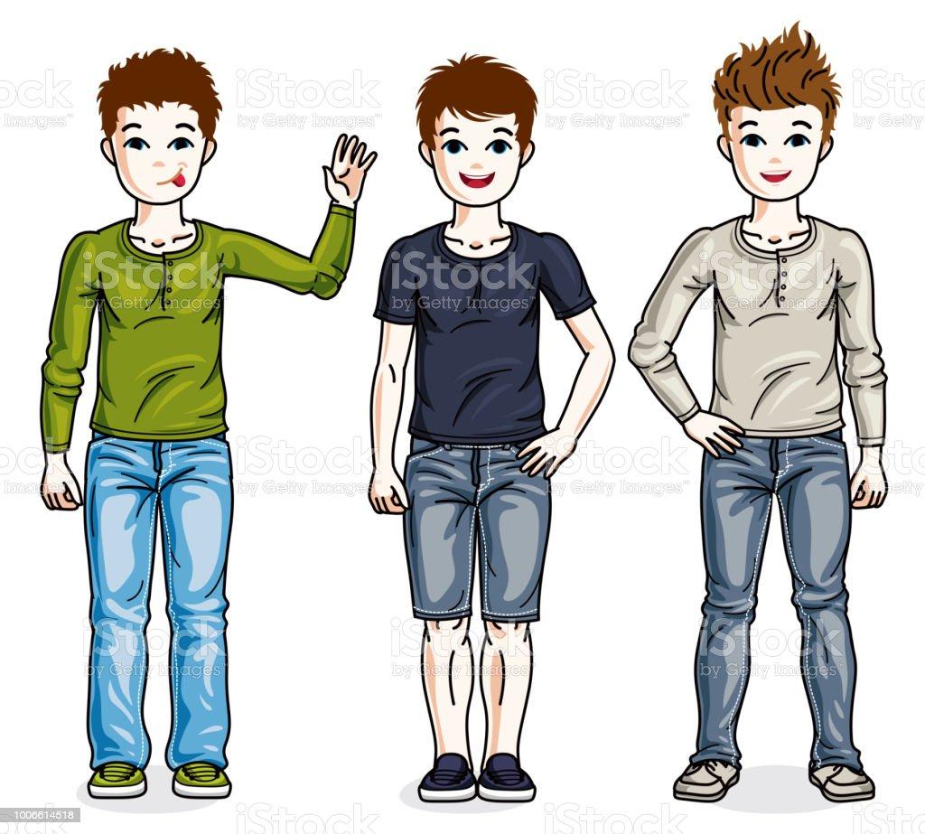casual teen boys