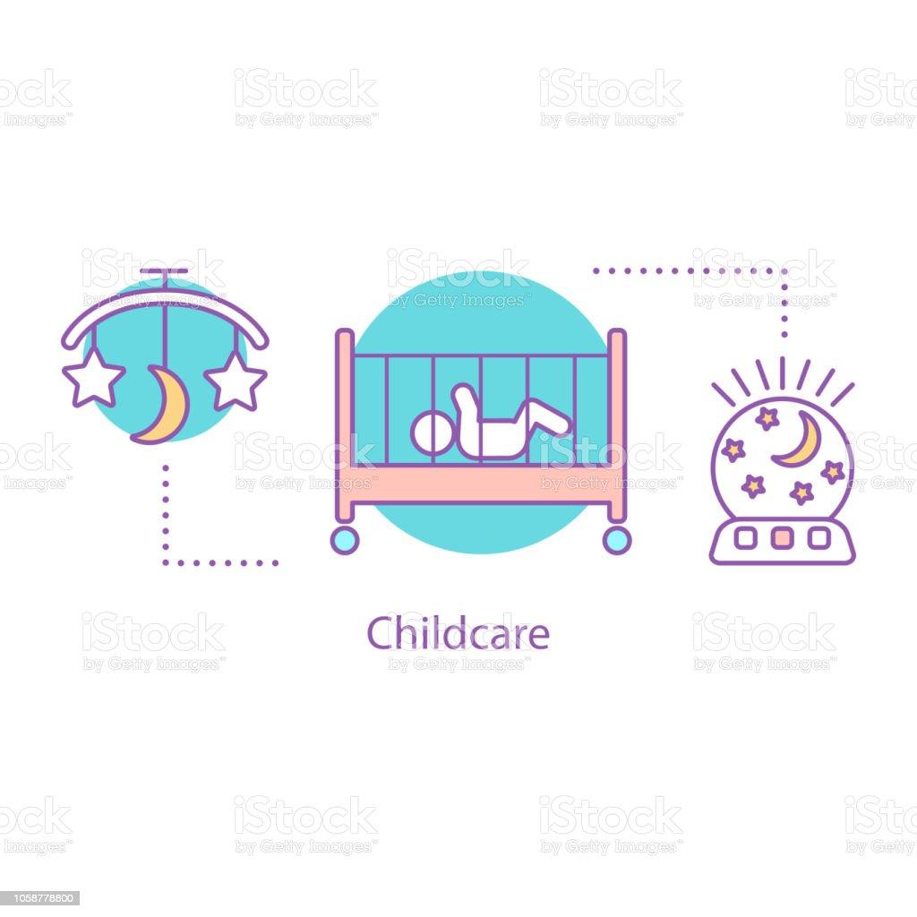Childcare icon vector art illustration