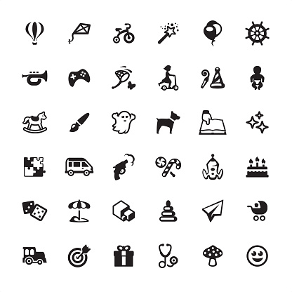 Childhood and Toys - icons set