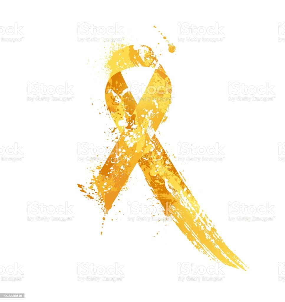 Childhood Cancer Awareness Ribbon Stock Vector Art More Images Of