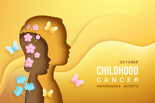 Childhood cancer awareness vector banner