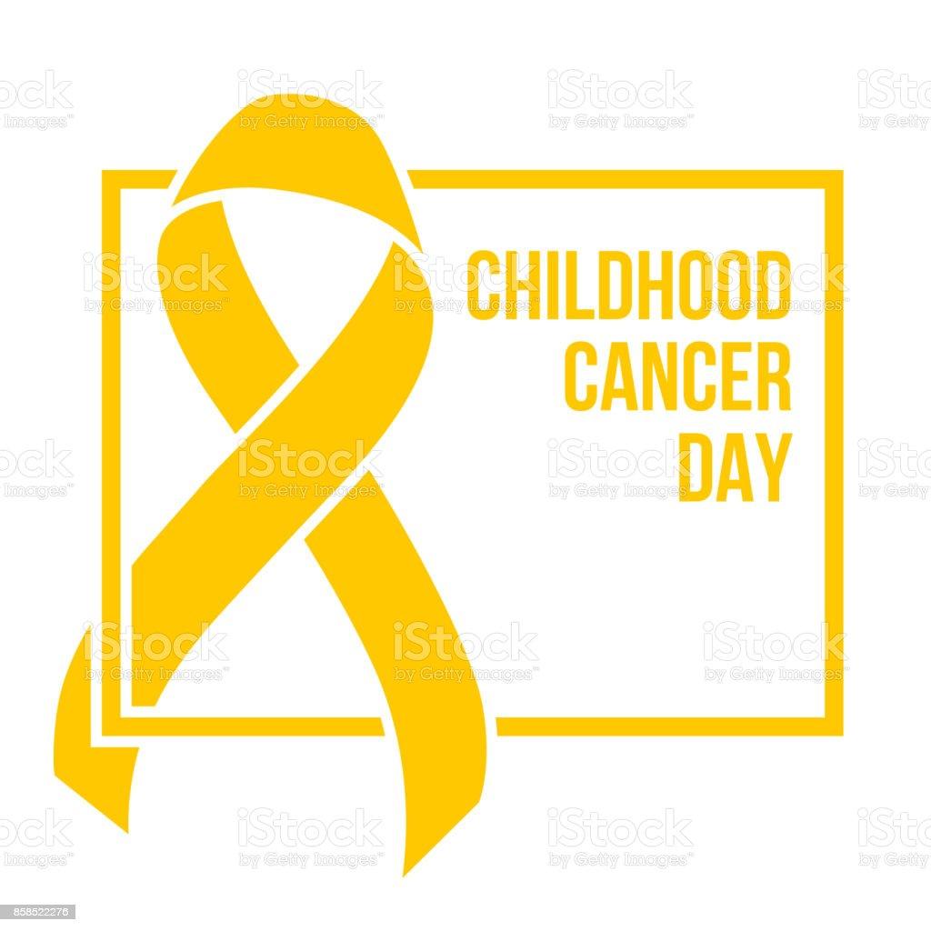 Childhood cancer day vector art illustration