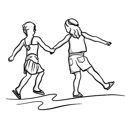 Childhood Friends Holding Hands