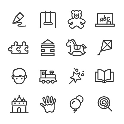 Childhood Icons - Line Series