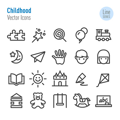 Childhood Icons - Vector Line Series