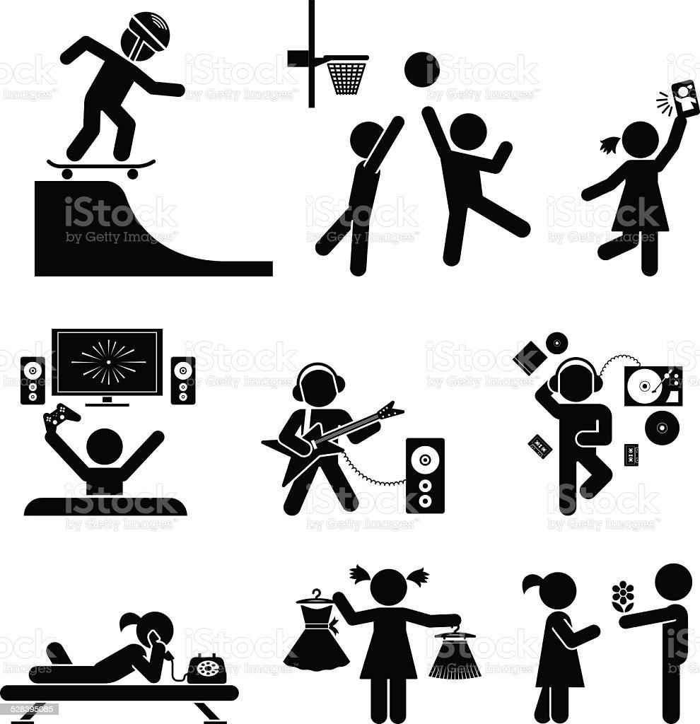 Childhood Vector Set Pictogram Icon Set Stock Vector Art