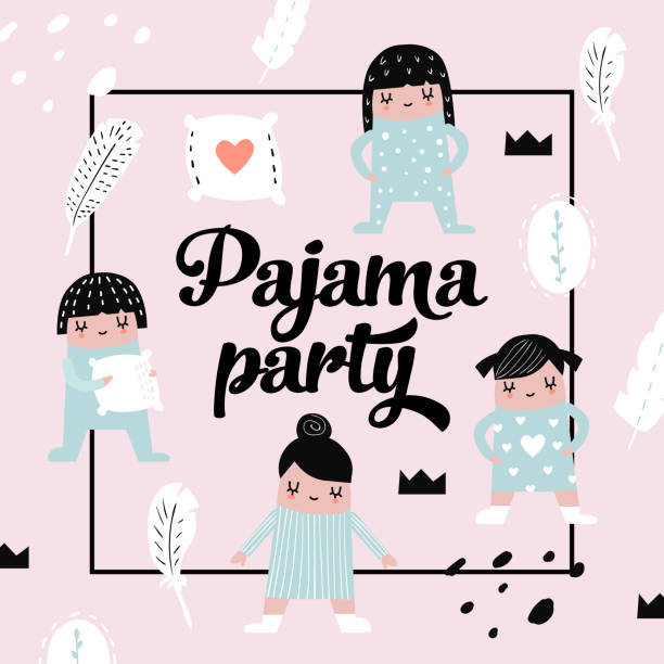 royalty free pajama party drawing clip art vector images