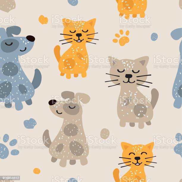 Childish seamless pattern with cute dogs and cats scandinavian style vector id916814512?b=1&k=6&m=916814512&s=612x612&h=rqdasjgd81jkrhfpjb1mx5sjlnrcvane3ivbeekemvq=