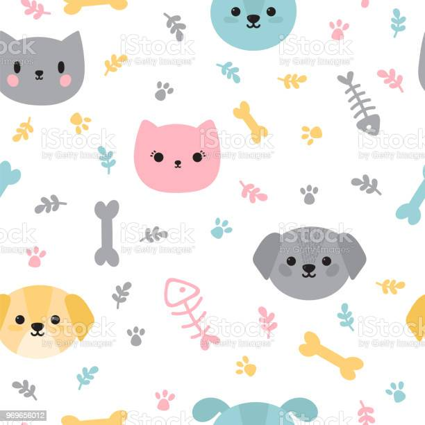 Childish seamless pattern with cute little puppies and kittens trendy vector id969656012?b=1&k=6&m=969656012&s=612x612&h=c5r71xncam38z3covrshm8n88r1vj0sarie8v gtj m=
