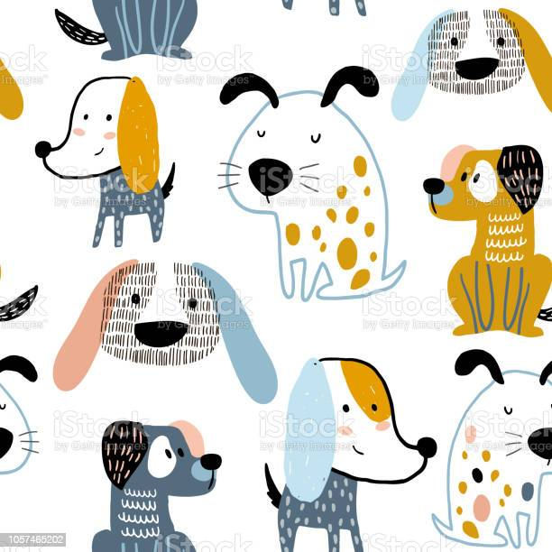 Childish seamless pattern with funny creative dogs trendy vector vector id1057465202?b=1&k=6&m=1057465202&s=612x612&h=mkexfc0xopldoz1gz0w8rcnuoypdc3ifjnumcnbf 6s=