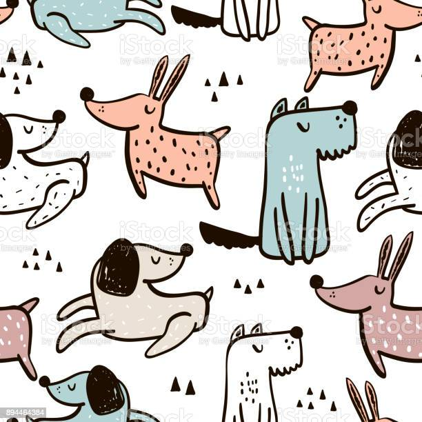 Childish seamless pattern with hand drawn dogs trendy scandinavian vector id894464384?b=1&k=6&m=894464384&s=612x612&h=ga mfwkf7zh4ifmqpymzuaxn1hocboskqchvonkzhxy=