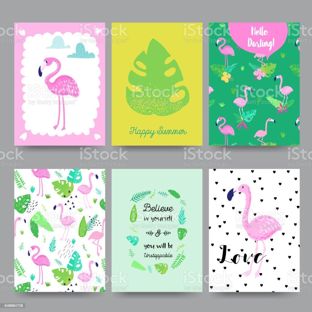 Design Ete Enfantin Tropicales Avec Des Fleurs Des Palmiers Et Des