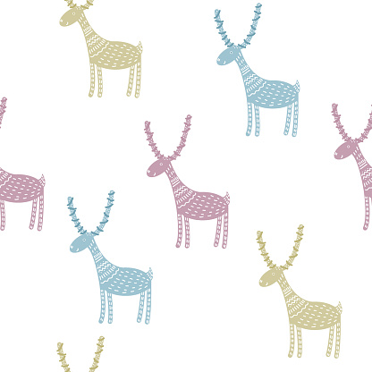 Childish wallpaper seamless pattern background. Abstract coft colored swatch for design kids badroom wall, nappy, birthday card, textile etc.