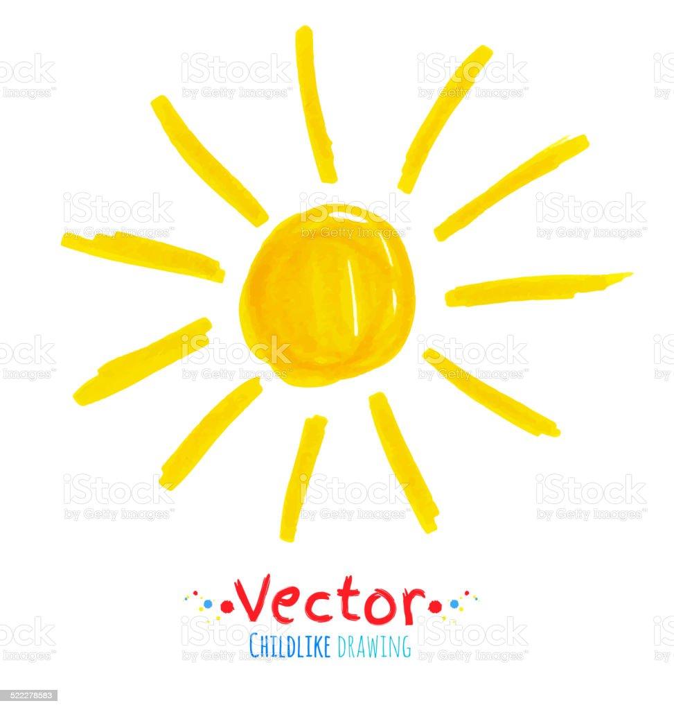 Enfant dessin de soleil cliparts vectoriels et plus d - Dessins soleil ...