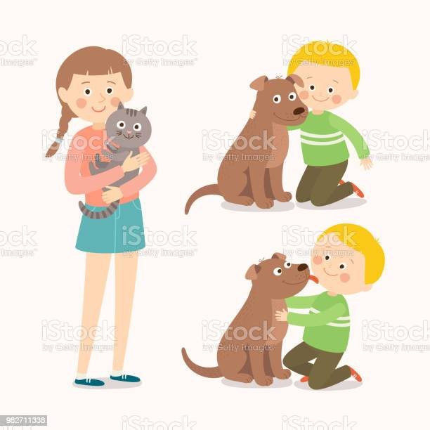 Children and pets child lovingly embraces his pet dog little dog vector id982711338?b=1&k=6&m=982711338&s=612x612&h=jo5s1ygpvzwvmnojw5all0sjk402  kvjhuu9fhxob0=