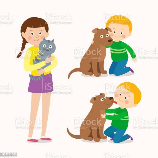 Children and pets child lovingly embraces his pet dog little dog vector id982711380?b=1&k=6&m=982711380&s=612x612&h=x7m9pcfrat7gkktezkdr7iw2t5v6jx8v3c dljmjqly=