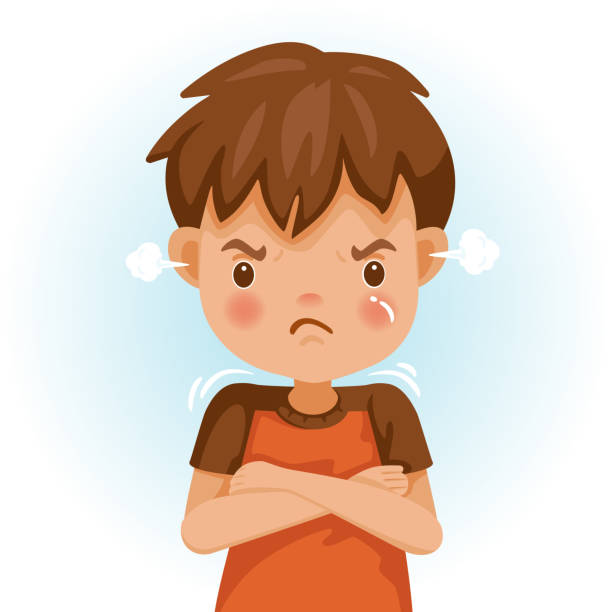 children angry - anger stock illustrations