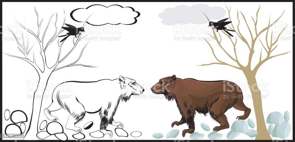 Ilustración de Libro De Animales Para Colorear De Niños y más banco ...