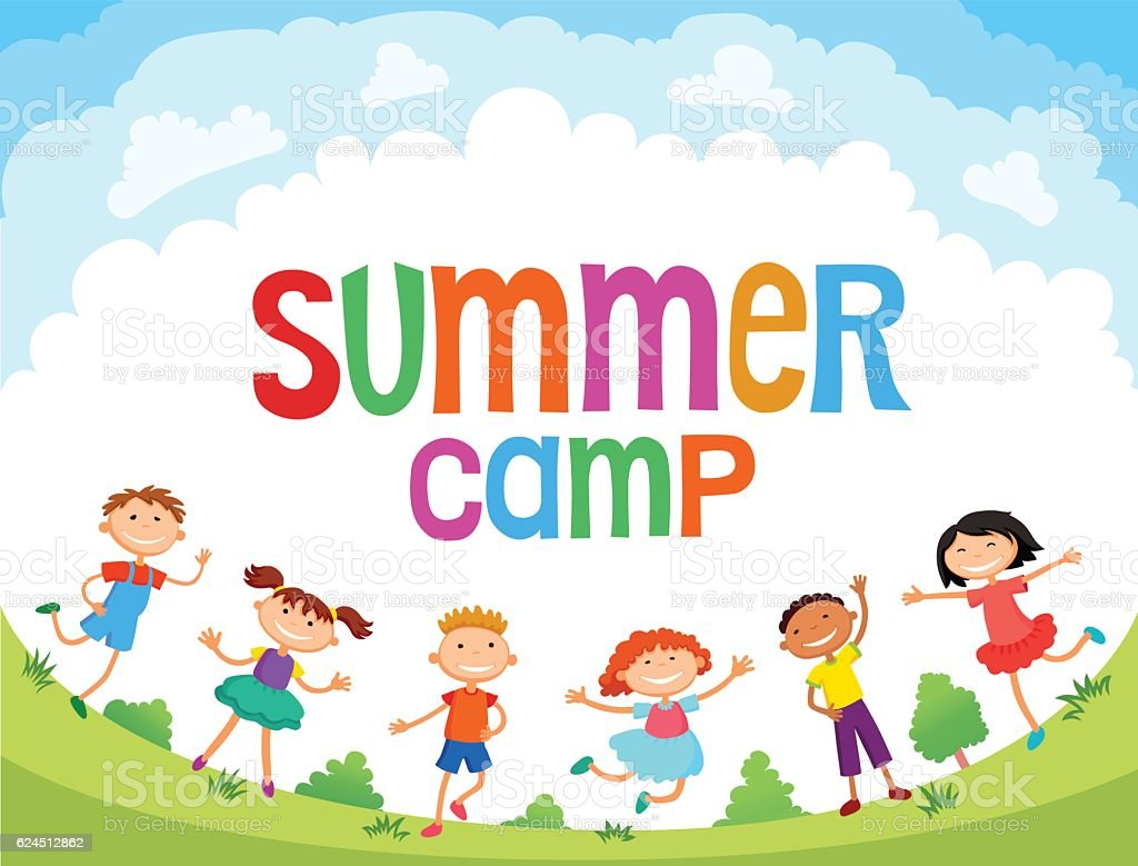 Royalty Free Summer Camp Clip Art Vector Images Illustrations Rh Istockphoto Com Camping Clipart For Kids Borders