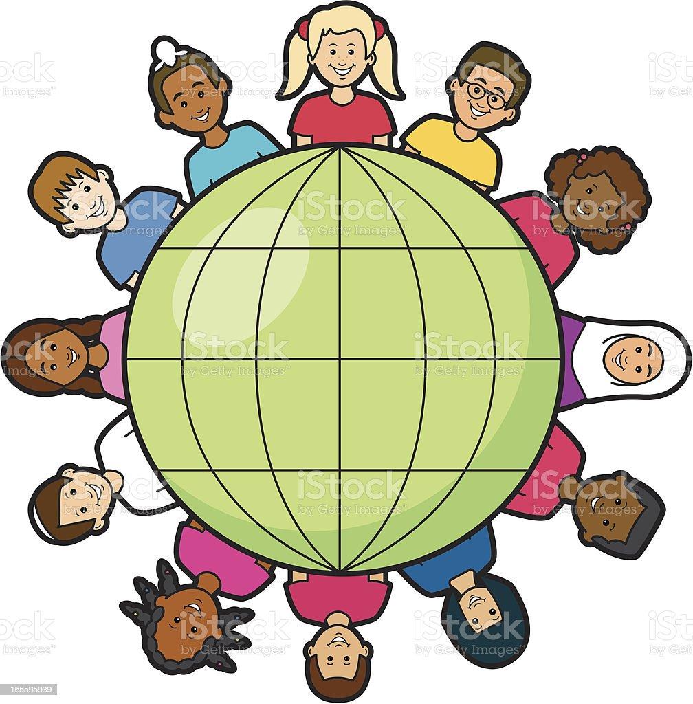 Niños de todo el mundo ilustración de niños de todo el mundo y más banco de imágenes de afrocaribeño libre de derechos