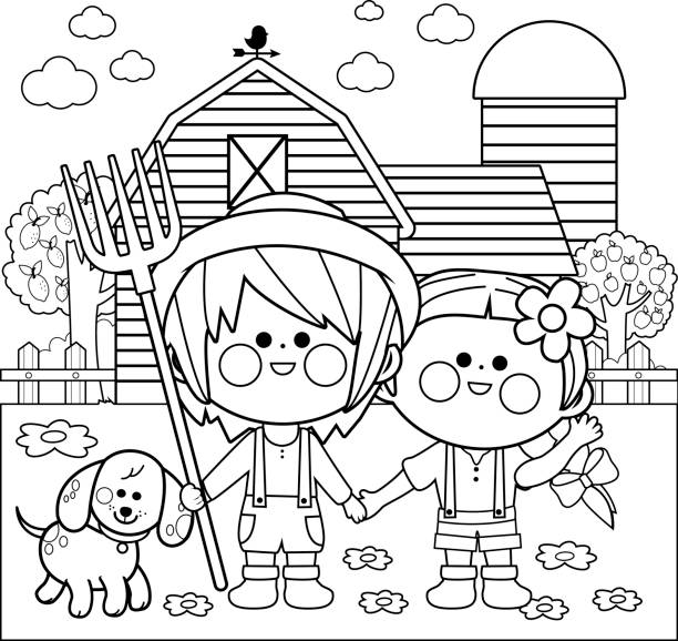 Royalty Free Kids Coloring Clip Art, Vector Images & Illustrations ...