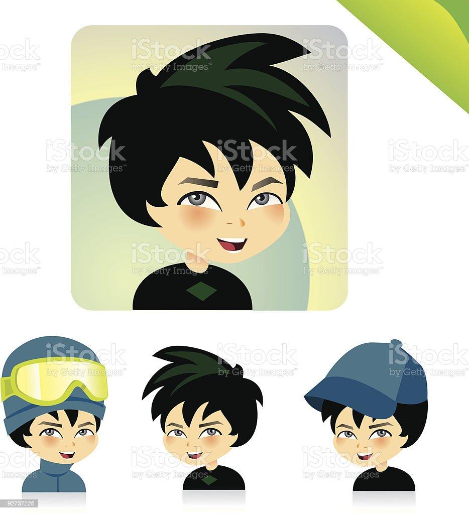 Children Avatar Icon Set- KIDS SET 02 - Royalty-free Avatar stock vector