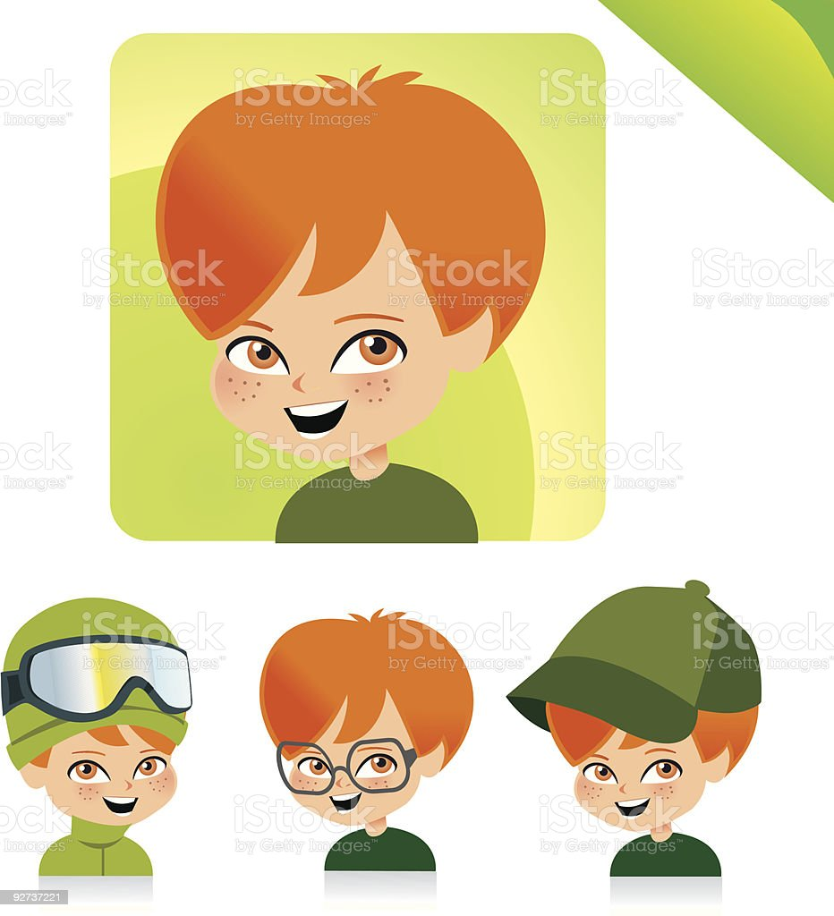 Children Avatar Icon Set- KIDS SET 05  Avatar stock vector