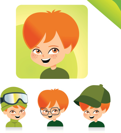Children Avatar Icon Set Kids Set 05 Stock Illustration - Download Image Now