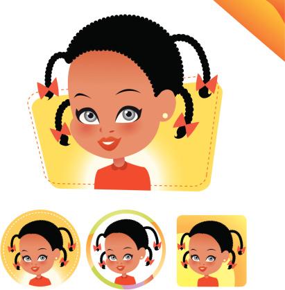Children Avatar Icon Set Kids Set 06 Stock Illustration - Download Image Now